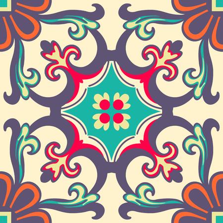 Achtergrond vintage bloem Naadloze bloemmotief Abstract wallpaper Stock Illustratie