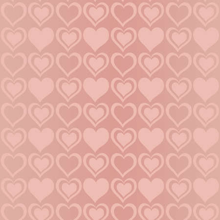 Seamless pattern of hearts. Vector background for celebrate valentines day Vector
