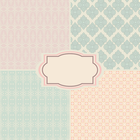 shabby chic: Shabby chic patterns and seamless backgrounds. Ideal for printing onto fabric and paper or scrap booking.