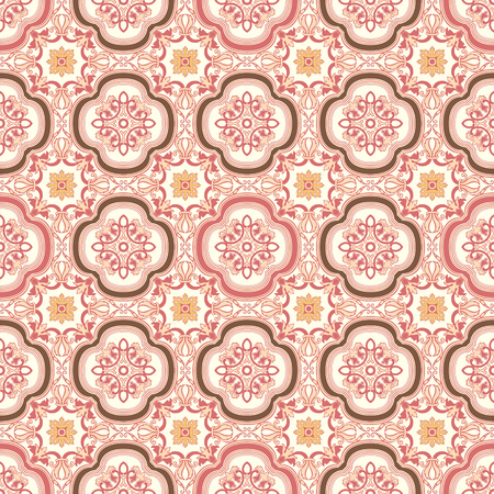 Background vintage flower. Seamless floral pattern. Abstract wallpaper. Texture royal vector. Fabric illustration. Reklamní fotografie - 27535967
