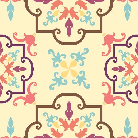 Achtergrond vintage bloem. Naadloze bloemmotief. Abstract behang. Stock Illustratie