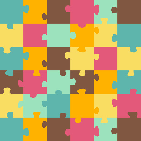 Seamless color puzzles background.  Jigsaw puzzle game