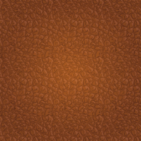Brown seamless vector leather texture background