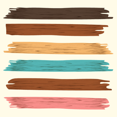 Vector wood plank, isolated on beige background