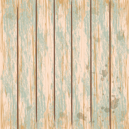 Wooden vintage green texture background. Vector illustration. Ilustração