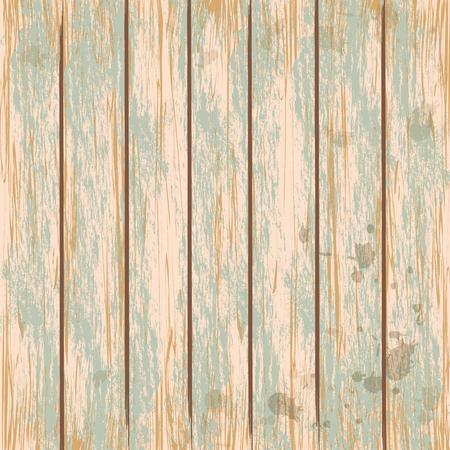 plywood texture: Wooden vintage green texture background. Vector illustration. Illustration