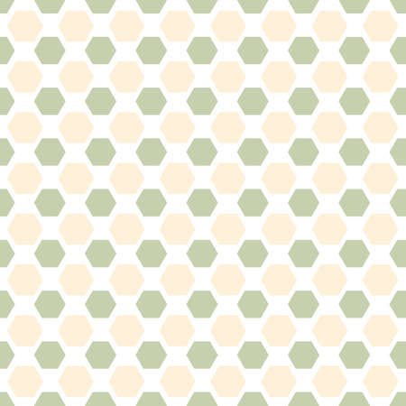 Hexagonal vintage pastel color vector pattern geometric abstract background in retro style Vector