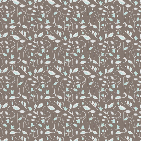 seamless summer tiny floral pattern on brown background