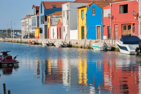 Old town in center of Aveiro, Portugal