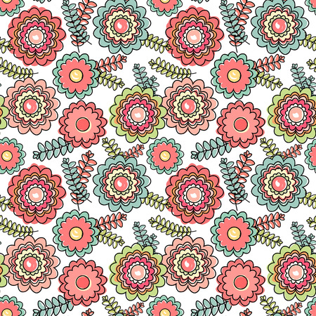 Ornate floral seamless texture, endless pattern with flowers. Seamless pattern can be used for wallpaper, pattern fills, web page background, surface textures. Vector