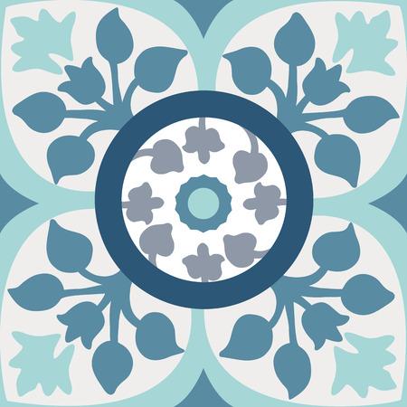 Achtergrond vintage bloem. Naadloze bloemmotief. Abstract behang. Textuur koninklijke vector. Fabric illustratie. Stock Illustratie