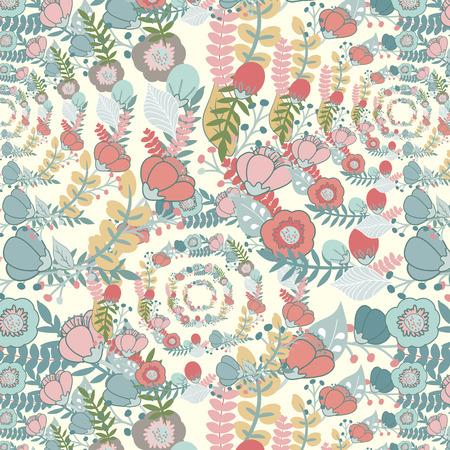 Elegant pattern with flowers Illustration