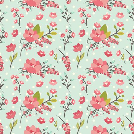Elegante naadloze patroon met bloemen