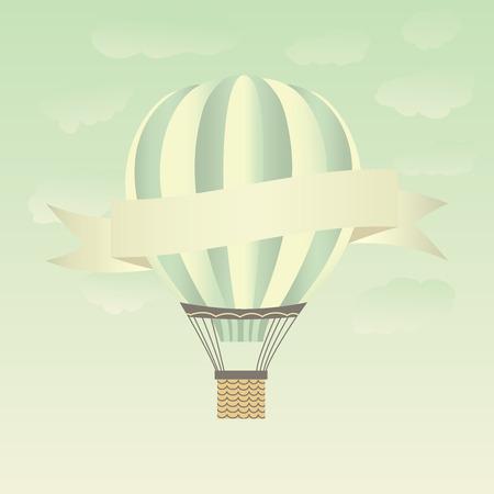 Hete lucht ballonnen in de lucht. Stock Illustratie