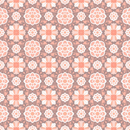 Background vintage flower. Seamless floral pattern. Abstract wallpaper. Texture royal vector. Fabric illustration. Vector