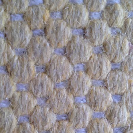 Bella giallo a maglia di lana vettore trama del tessuto.