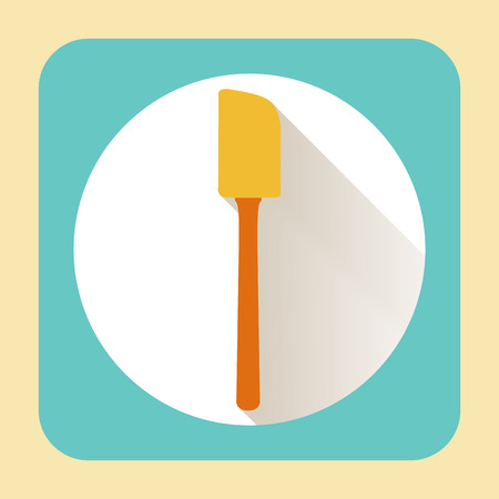 kitchen ware: Kitchen ware beater. Vector flat icon with long shadow
