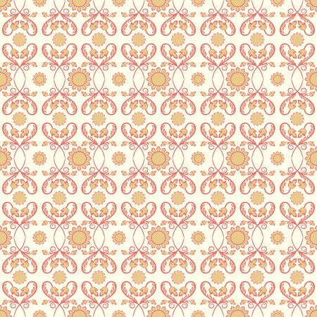 Background vintage flower. Seamless floral pattern. Abstract wallpaper. Texture royal vector. Fabric illustration. Stock Photo