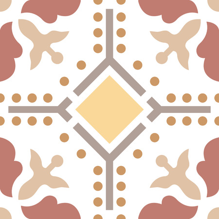 seamless tile: Seamless vintage background - Victorian tile in vector Illustration