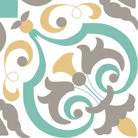 abstract wallpaper: Background vintage flower. floral pattern. Abstract wallpaper. Texture royal vector. Fabric illustration. Illustration