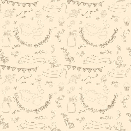 background isolated: Vintage romantic set in vector. Stylish romantic elements for party. Chalkboard background. Ideal for set designs of celebration