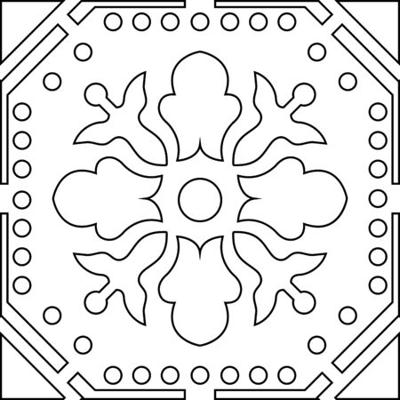 adults: Unique coloring book square page for adults