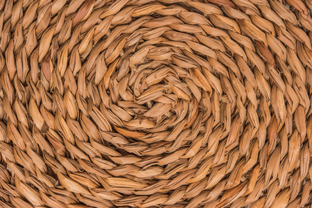Wicker woven pattern for abstract background or texture. Wicker place mat. Stock Photo