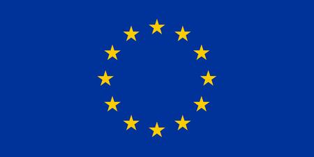 Vlag van de Europese Unie. Vectorillustratie Stockfoto