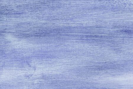 Abstract hand painted blue canvas background texture. Stock Photo