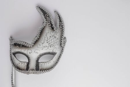 Carnival mask on white background.