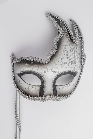 Carnival mask on white background.
