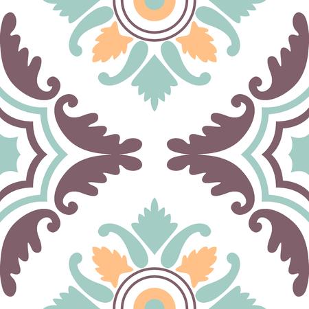 Seamless vintage background - Victorian tile in vector Illustration