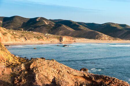 Beach with rocks in Praia do Amado in Algarve, Portugal