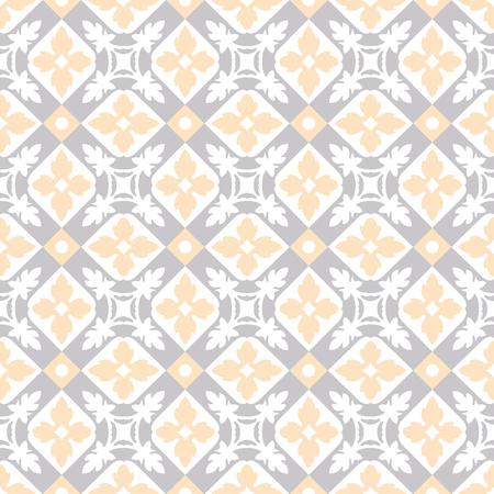 Seamless vintage background - Victorian tile in vector Stock Illustratie