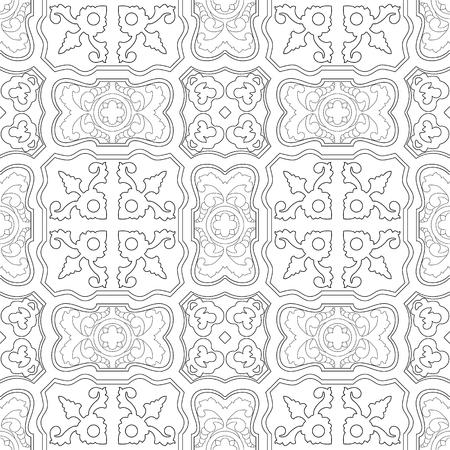 Portugees tegelspatroon. Vintage achtergrond. Vector naadloze textuur. Prachtig gekleurd patroon voor design en mode met decoratieve elementen