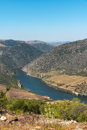 Viewpoint of Vargelas allows to see a vast landscape on the Douro and its man-made slopes. Douro Region, famous Port Wine Region, Portugal Reklamní fotografie