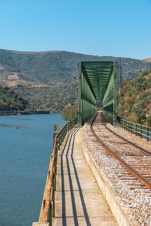 Douro valley view near the Ferradosa bridge at Sao Xisto Located in Vale de Figueira, Sao Joao da Pesqueira Municipality, the village is dominated by a breathtaking landscape