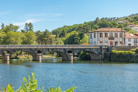 Vez river and village of Arcos de Valdevez, in Minho, Portugal.