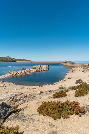 Lagoa Comprida is the largest lake of Serra da Estrela Natural park, Portugal Reklamní fotografie
