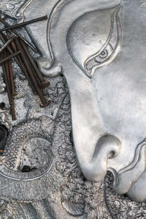 Carved silver for home decoration photo