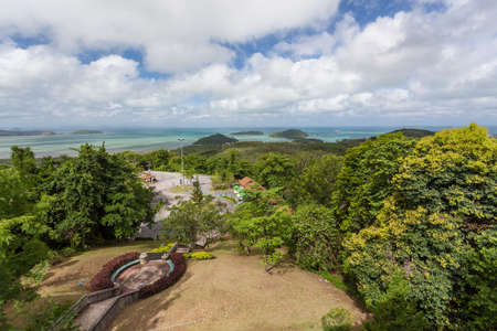 Panwa Viewpoint (also known as Khao Khad Views Tower) has full 360-degree views out over southern and eastern Phuket. Located on the way out to Cape Panwa, it�s not a busy spot like Cape Promthep or Big Buddha but is every bit as spectacular. There is amp