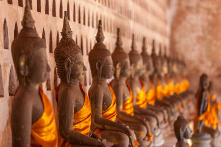 anon: Lao, Vientiane - Wat Si Saket temple. Built between, 1819 and 1824 by Chao Anon, is believed to be Vientiane