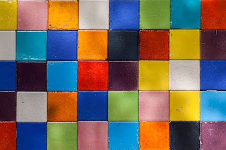 colorful ceramic tile patterns background. photo