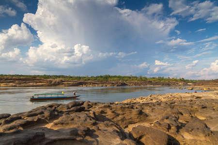 The Grand Canyon of Siam with Mekong river is name Sam Phan Bok (Three thousand holes) at Ubon Ratchathani Thailand photo