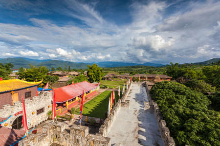 barrack: Chinese town in pai city Thailand