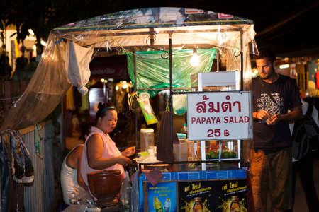 mea: MEA HONG SORN, THAILAND - September 06:Scene of  Walking Street in Pai Mea Hong Son, Thailand October 06,2013