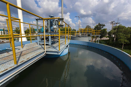 eau de pluie: L'eau de pluie usine de traitement RWTP. Fonderie respectueux de l'environnement.