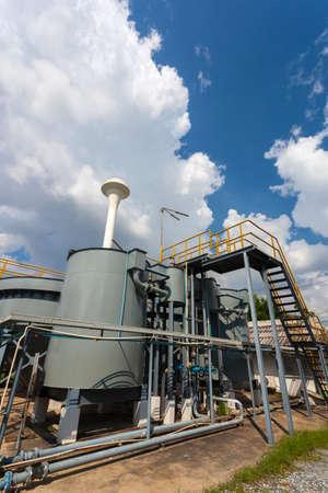 defecate: Impianto di trattamento acqua piovana (RWTP). Smelter ecologico. Archivio Fotografico