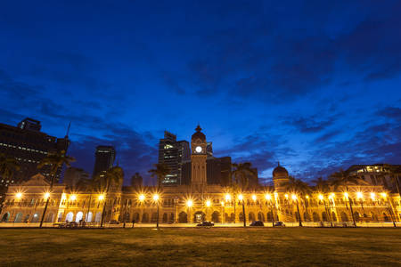 merdeka: The Sultan Abdul Samad building is located in front of the Merdeka Square in Jalan RajaKuala Lumpur Malaysia.