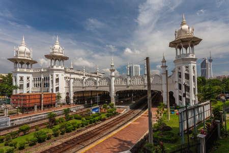 KUALA LUMPUR MALAYSIA  November 04 2012:Kuala Lumpur old railway station. Kuala Lumpur station was built in 1910 as a railway hub and is famous for its beautiful architecture.